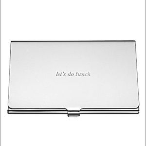 NWT Kate Spade ♠️ Lets Do Lunch Silver Card case